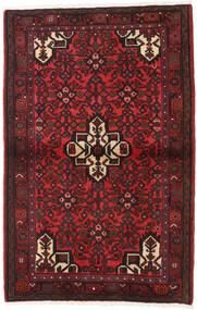 Hamadan Teppe 103X162 Ekte Orientalsk Håndknyttet Mørk Rød/Svart (Ull, Persia/Iran)