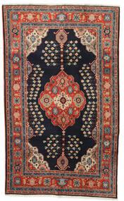 Kazak Teppe 120X194 Ekte Orientalsk Håndknyttet Mørk Blå/Mørk Rød (Ull, Afghanistan)