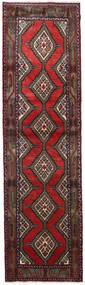 Hamadan Teppe 84X305 Ekte Orientalsk Håndknyttet Teppeløpere Mørk Rød/Svart (Ull, Persia/Iran)