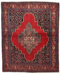 Senneh Teppe 130X155 Ekte Orientalsk Håndknyttet Mørk Rød/Mørk Grå (Ull, Persia/Iran)