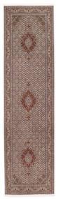 Tabriz 50 Raj Sherkat Farsh Teppe 80X300 Ekte Orientalsk Håndknyttet Teppeløpere Mørk Rød/Lys Grå (Ull/Silke, Persia/Iran)