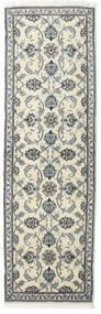 Nain Teppe 80X250 Ekte Orientalsk Håndknyttet Teppeløpere Mørk Grå/Beige (Ull, Persia/Iran)