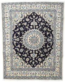 Nain Teppe 200X250 Ekte Orientalsk Håndknyttet Beige/Mørk Grå (Ull, Persia/Iran)