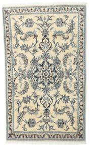 Nain Teppe 92X151 Ekte Orientalsk Håndknyttet Lys Grå/Beige (Ull, Persia/Iran)