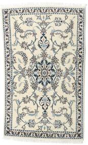 Nain Teppe 90X143 Ekte Orientalsk Håndknyttet Beige/Mørk Grå (Ull, Persia/Iran)