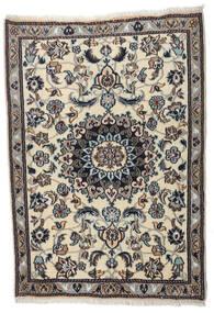 Nain Teppe 88X123 Ekte Orientalsk Håndknyttet Svart/Lys Grå (Ull, Persia/Iran)