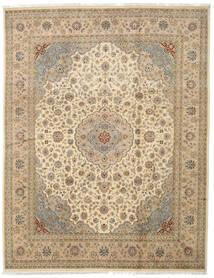 Tabriz Royal Teppe 242X312 Ekte Orientalsk Håndknyttet Lysbrun/Beige/Mørk Beige ( India)