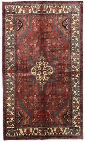 Hamadan Teppe 135X234 Ekte Orientalsk Håndknyttet Mørk Rød/Mørk Brun (Ull, Persia/Iran)