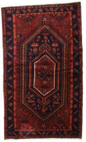 Hamadan Teppe 135X227 Ekte Orientalsk Håndknyttet Mørk Rød (Ull, Persia/Iran)