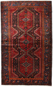 Hamadan Teppe 148X244 Ekte Orientalsk Håndknyttet Mørk Rød/Svart (Ull, Persia/Iran)