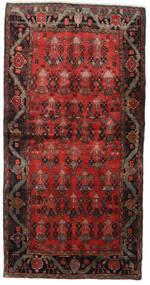 Hamadan Teppe 125X245 Ekte Orientalsk Håndknyttet Mørk Rød/Mørk Brun (Ull, Persia/Iran)