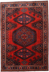 Wiss Teppe 214X313 Ekte Orientalsk Håndknyttet Mørk Rød/Rust (Ull, Persia/Iran)