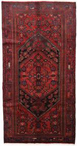 Hamadan Teppe 139X264 Ekte Orientalsk Håndknyttet Mørk Rød/Svart (Ull, Persia/Iran)
