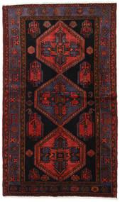 Hamadan Teppe 125X213 Ekte Orientalsk Håndknyttet Mørk Rød (Ull, Persia/Iran)