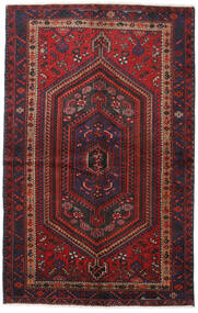 Hamadan Teppe 137X217 Ekte Orientalsk Håndknyttet Mørk Rød/Mørk Brun (Ull, Persia/Iran)