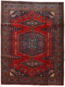 Wiss Teppe 228X307 Ekte Orientalsk Håndknyttet Mørk Rød/Svart (Ull, Persia/Iran)