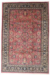 Mashad Teppe 186X315 Ekte Orientalsk Håndknyttet Mørk Grå/Beige (Ull, Persia/Iran)