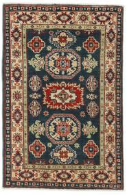 Kazak Teppe 83X126 Ekte Orientalsk Håndknyttet Svart/Mørk Rød (Ull, Afghanistan)