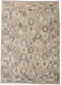 Kelim Afghan Old Style Teppe 241X342 Ekte Orientalsk Håndvevd Lys Grå (Ull, Afghanistan)