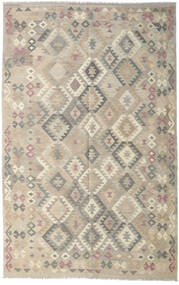 Kelim Afghan Old Style Teppe 190X301 Ekte Orientalsk Håndvevd Lys Grå (Ull, Afghanistan)