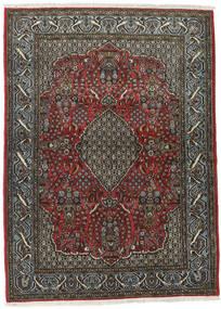 Ghom Kork/Silke Teppe 113X154 Ekte Orientalsk Håndknyttet Mørk Grå/Svart (Ull/Silke, Persia/Iran)