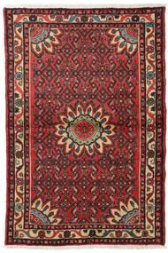 Hosseinabad Teppe 99X149 Ekte Orientalsk Håndknyttet Mørk Brun/Mørk Rød (Ull, Persia/Iran)