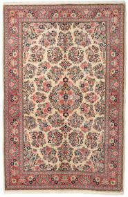 Sarough Teppe 132X213 Ekte Orientalsk Håndknyttet Mørk Grå/Brun (Ull, Persia/Iran)