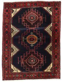 Hamadan Teppe 102X137 Ekte Orientalsk Håndknyttet Mørk Brun/Mørk Rød (Ull, Persia/Iran)