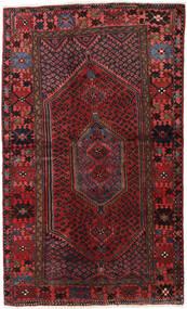 Hamadan Teppe 132X218 Ekte Orientalsk Håndknyttet Mørk Rød/Svart (Ull, Persia/Iran)