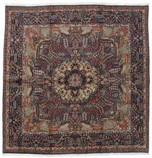 Kerman Teppe 242X246 Ekte Orientalsk Håndknyttet Kvadratisk Mørk Blå/Svart (Ull, Persia/Iran)