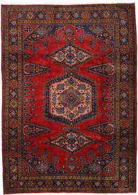 Wiss Teppe 212X310 Ekte Orientalsk Håndknyttet Mørk Rød/Mørk Brun/Rust (Ull, Persia/Iran)