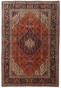 Tabriz Teppe 205X305 Ekte Orientalsk Håndknyttet Mørk Rød/Lysbrun (Ull, Persia/Iran)