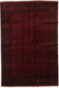 Afghan Khal Mohammadi Teppe 198X289 Ekte Orientalsk Håndknyttet Mørk Rød (Ull, Afghanistan)