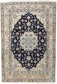 Nain Teppe 202X297 Ekte Orientalsk Håndknyttet Lys Grå/Beige (Ull, Persia/Iran)