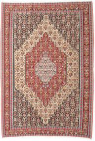 Kelim Senneh Teppe 202X298 Ekte Orientalsk Håndvevd Beige/Brun (Ull, Persia/Iran)