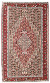 Kelim Senneh Teppe 150X251 Ekte Orientalsk Håndvevd Lys Grå/Brun (Ull, Persia/Iran)