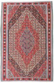 Kelim Senneh Teppe 169X257 Ekte Orientalsk Håndvevd Lys Grå/Brun (Ull, Persia/Iran)