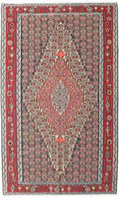 Kelim Senneh Teppe 150X248 Ekte Orientalsk Håndvevd Lys Grå/Mørk Brun (Ull, Persia/Iran)