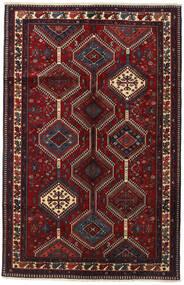 Yalameh Teppe 153X237 Ekte Orientalsk Håndknyttet Mørk Rød (Ull, Persia/Iran)