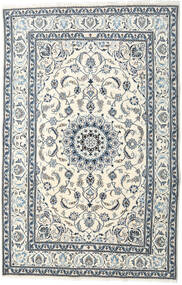 Nain Teppe 195X299 Ekte Orientalsk Håndknyttet Beige/Lys Grå (Ull, Persia/Iran)