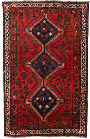 Shiraz Teppe 158X251 Ekte Orientalsk Håndknyttet Mørk Rød/Svart/Rust (Ull, Persia/Iran)