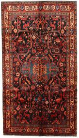 Nahavand Teppe 153X270 Ekte Orientalsk Håndknyttet Mørk Rød/Mørk Brun (Ull, Persia/Iran)