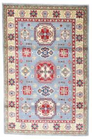 Kazak Teppe 118X182 Ekte Orientalsk Håndknyttet Beige/Lys Grå (Ull, Afghanistan)