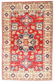 Kazak Teppe 94X147 Ekte Orientalsk Håndknyttet Lyserosa/Rust (Ull, Afghanistan)