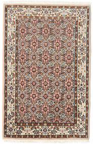 Moud Teppe 57X90 Ekte Orientalsk Håndknyttet Mørk Brun/Lysbrun (Ull/Silke, Persia/Iran)