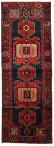 Hamadan Teppe 104X295 Ekte Orientalsk Håndknyttet Teppeløpere Mørk Rød (Ull, Persia/Iran)
