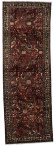 Hamadan Teppe 97X290 Ekte Orientalsk Håndknyttet Teppeløpere Mørk Brun/Mørk Rød (Ull, Persia/Iran)