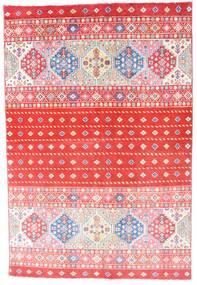 Kazak Teppe 121X180 Ekte Orientalsk Håndknyttet Lyserosa/Rød (Ull, Afghanistan)