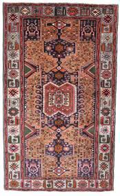 Hamadan Teppe 130X222 Ekte Orientalsk Håndknyttet Mørk Brun/Mørk Rød (Ull, Persia/Iran)