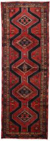 Hamadan Teppe 100X290 Ekte Orientalsk Håndknyttet Teppeløpere Mørk Rød/Svart (Ull, Persia/Iran)
